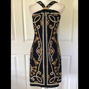 Cache halter top scarf print dress Sz M